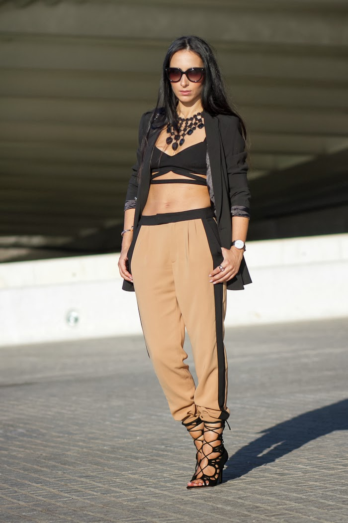 VALENCIA FASHION WEEK LOOK: CROPPED TOP and CROPPED PANTS