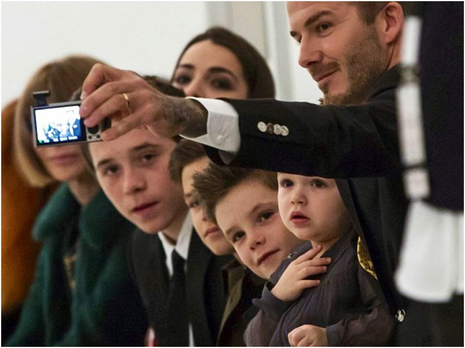 David Beckham in Ralph Lauren - New York Fashion Week
