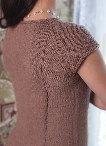 Kitty's Chemise raglan top pattern by Katya Frankel for Jane Austen Knits 2014.