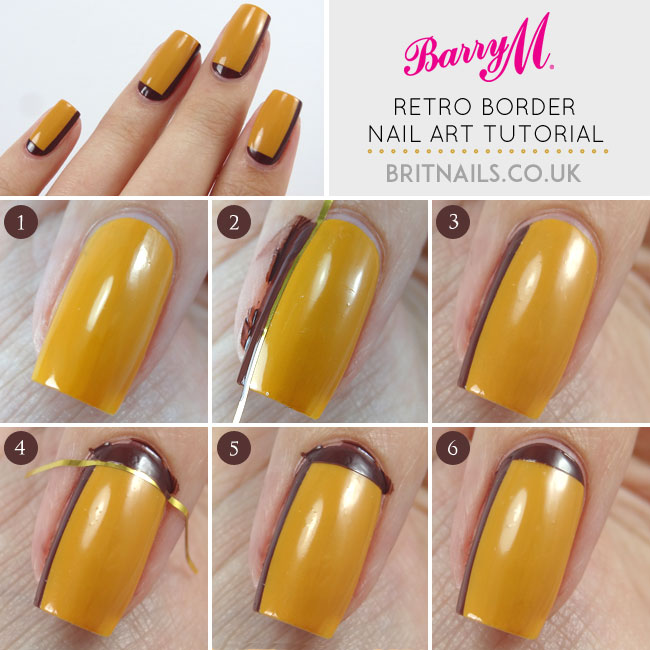 Retro Border Nail Art Tutorial