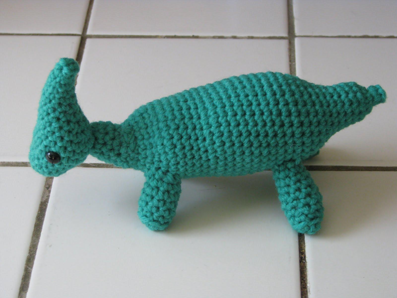 Gourmet Crochet Amigurumi Dinosaurs : Craft Attic Resources: Parasaurolophus