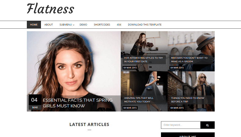 Download - Flatness - Responsive Fashion Blogger Template