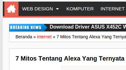 cara memasang breaking news pada blogspot