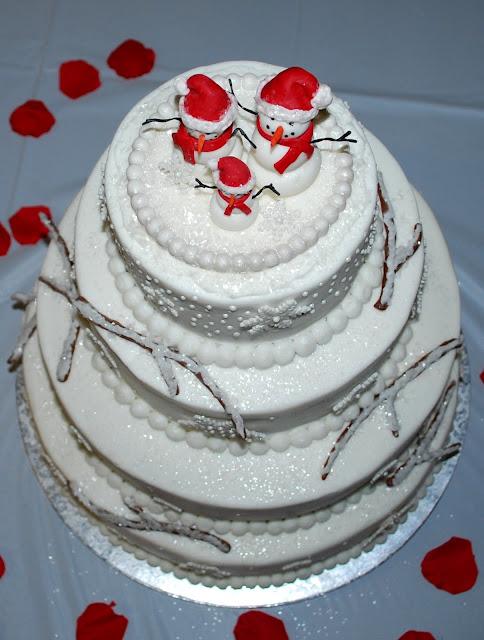 Boutique NutMeg Designs: Winter Wonderland Cake