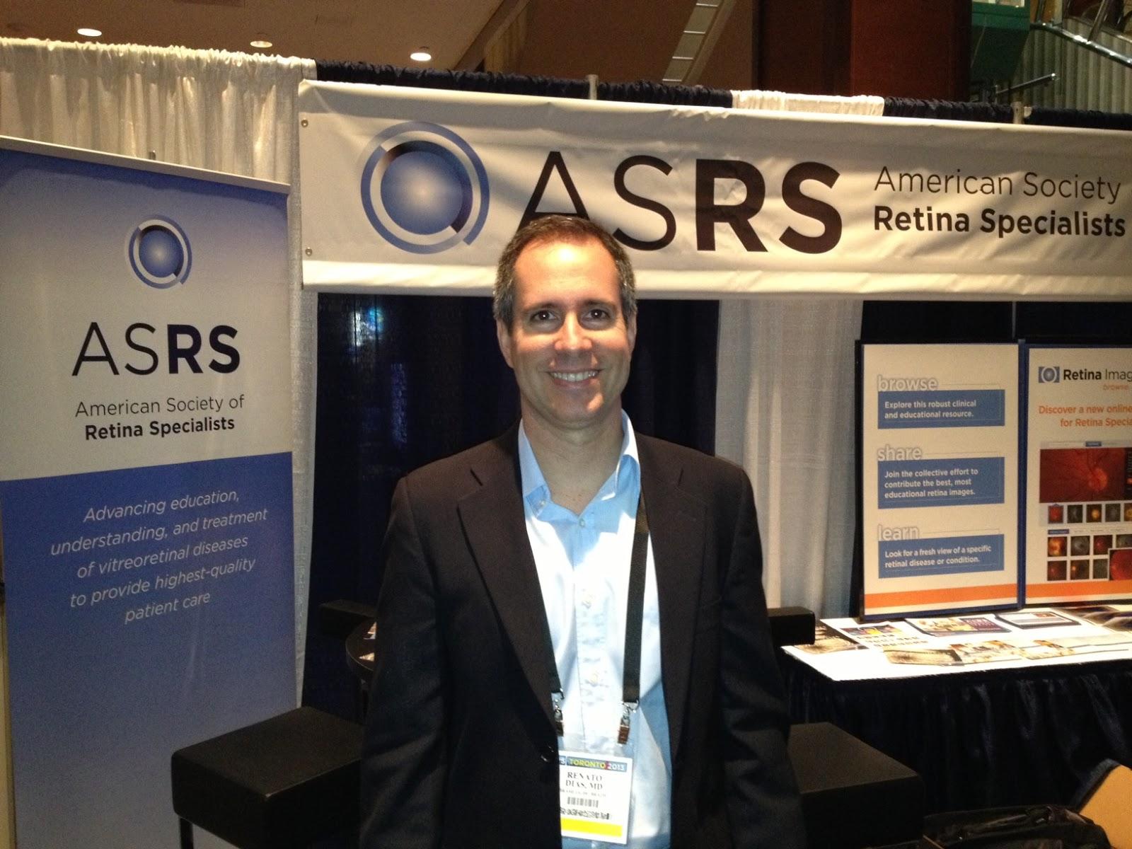0a1657c38d397 O Dr. Renato Braz Dias acaba de retornar de Toronto, onde participou da 31ª  reunião anual da Sociedade Americana de Especialistas em Retina, ...