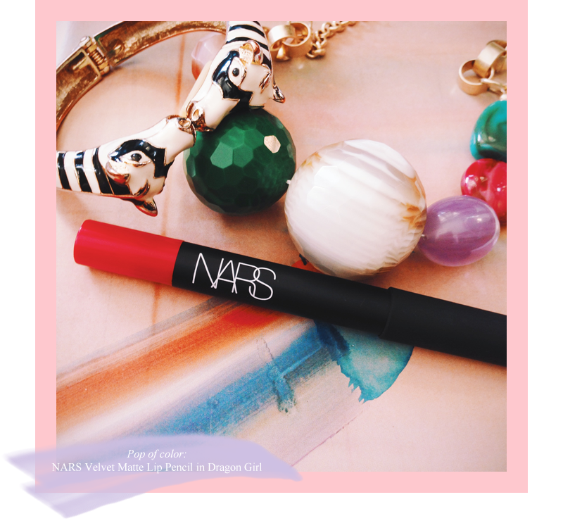 Anthro Necklace Nars Lippy Zebra Bracelet | Allegory of Vanity