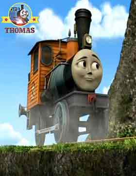 Thomas the tank engine and friends Toby the steam engine felt terrible must listen to Dash the loco