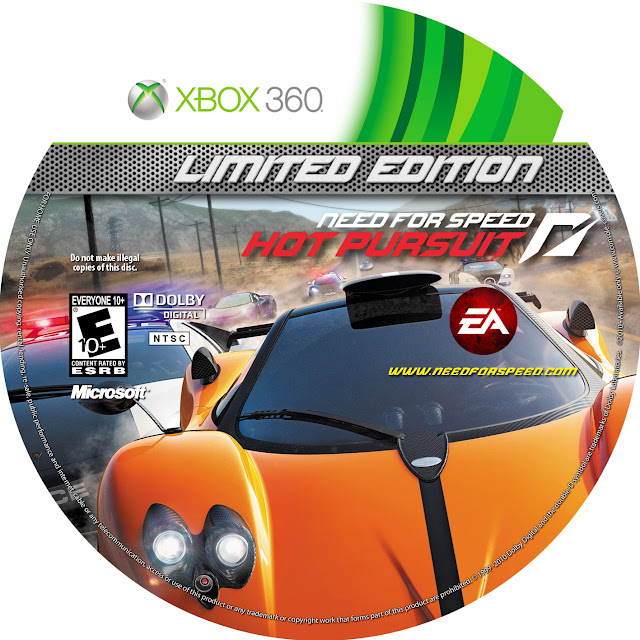 Label Need For Speed Hot Pursuit Limited Edition Xbox 360
