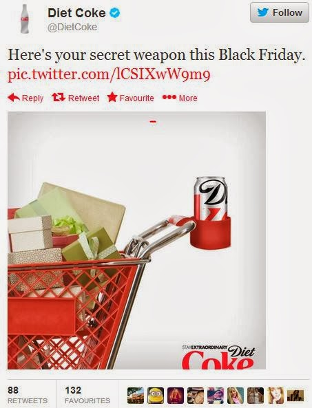 Diet Coke Black Friday secret weapon tweet