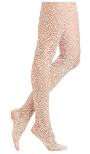 Modcloth transparent white lack stockings