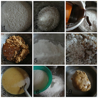 Preparation of palm jaggery fritters 2days before