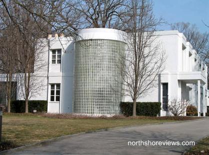 Casa residencial de estilo Internacional en Wilmette, Illinois años 30