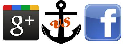 Comparativa Google Plus  vs  Facebook