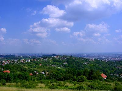 Pogled na Zagreb sa Zelene Magistrale