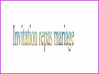 Texte invitation repas mariage
