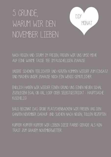 5 Gründe den November zu lieben, wir lieben den November