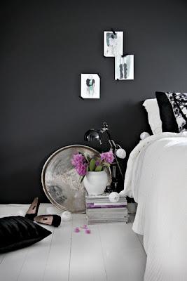 dormitorio paredes negras