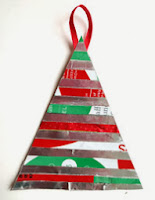 coffee bag Christmas tree ornament