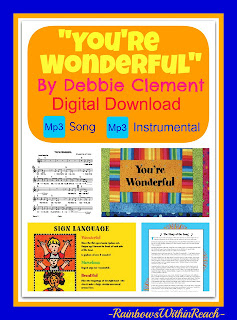 photo of: &quot;You're Wonderful&quot; Digital Download Mp3 via RainbowsWithinReach