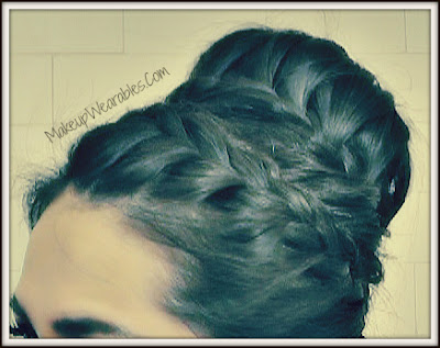 Image10 sharpen+2tty Never Ending, French Braid Sock Bun Hairstyles | Hair Tutorial Video