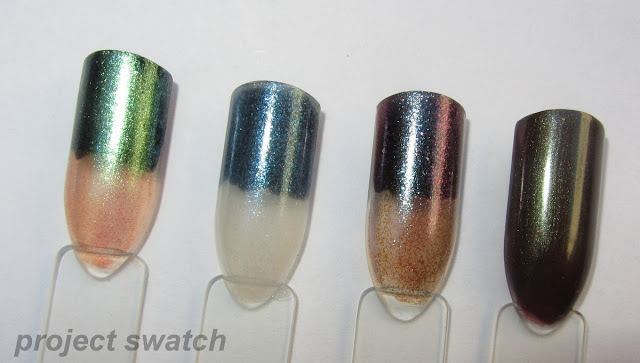 swatches - L'Oreal The Temptress's Power, Forever 21 Light Grey / Multi, Model's Own Purple Blue, Maybelline Downtown Brown