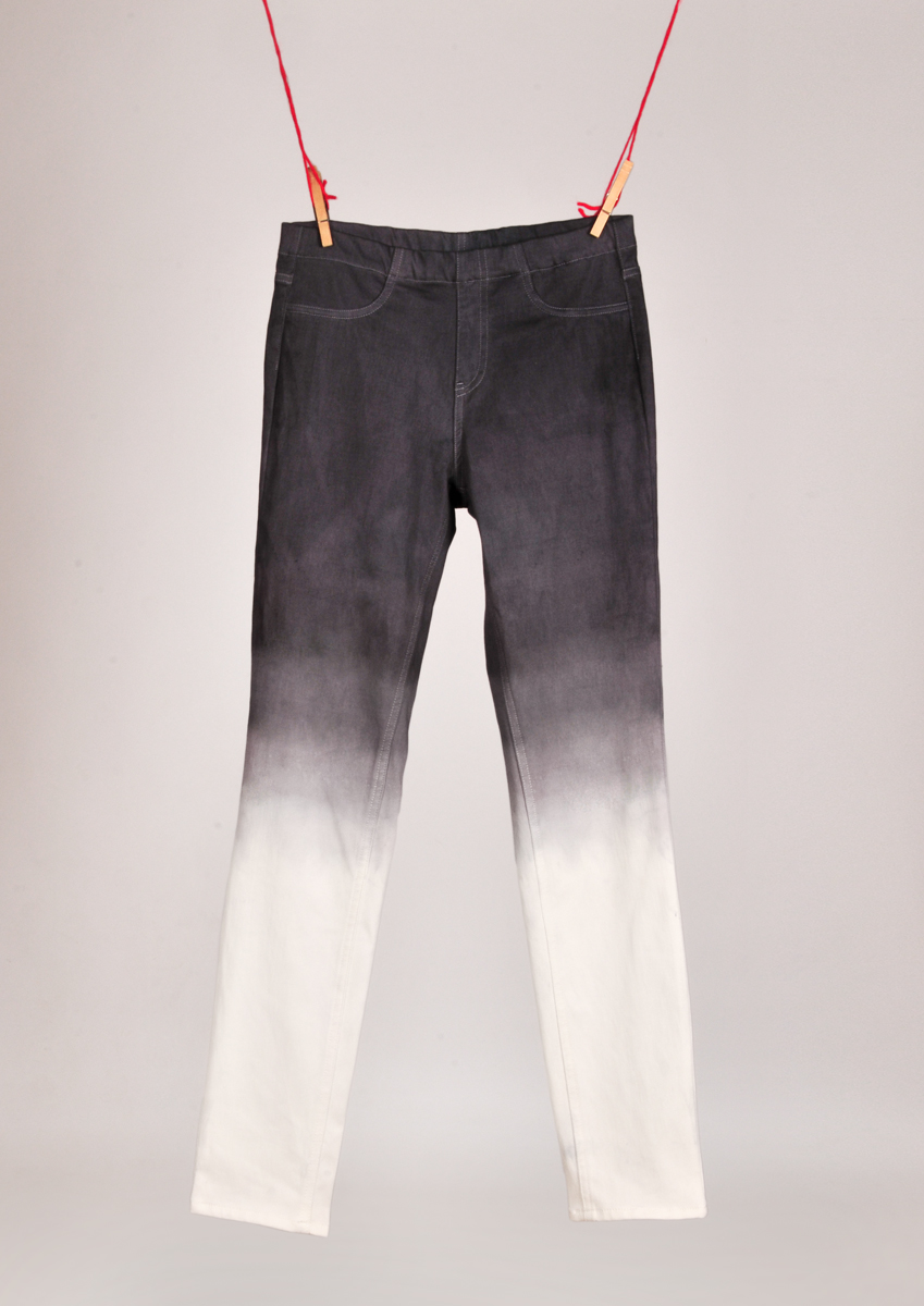 Diy bleached black jeans