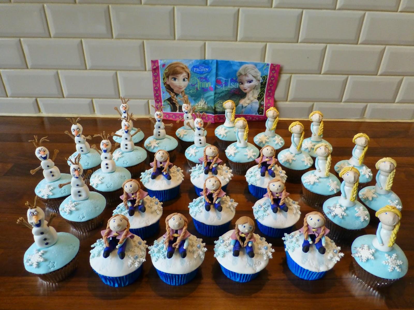 frozen reine des neiges cupcakes