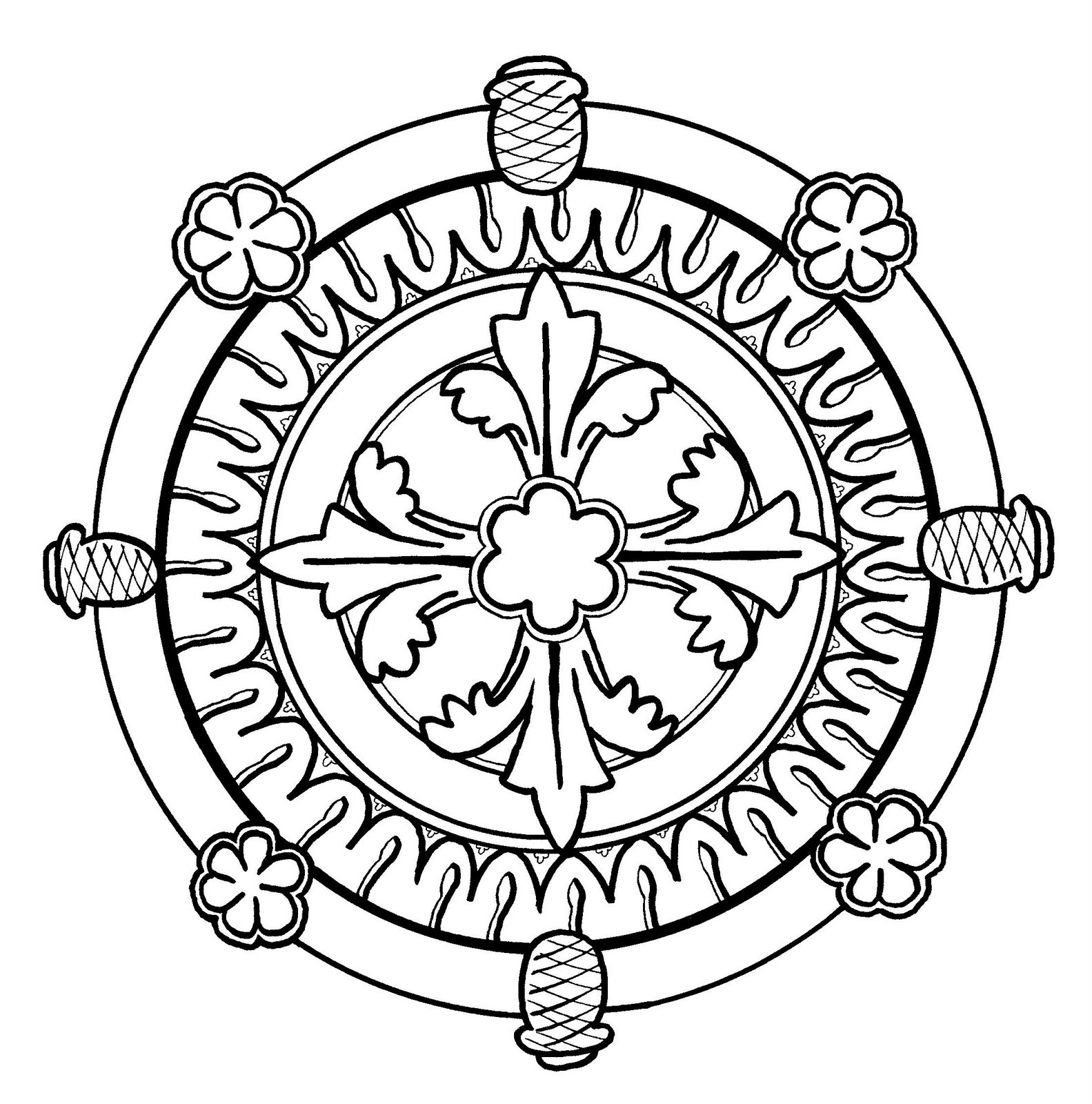 Mandalas Para Pintar: Vidriera de Soissons