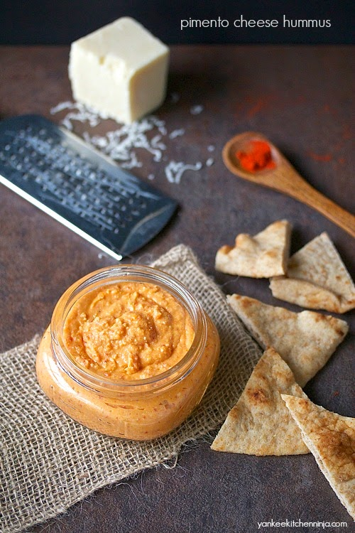 Easy 6 ingredient pimento cheese hummus