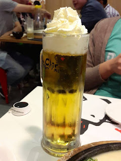 Korean whipped cream beer at Chir Chir Somerset 313
