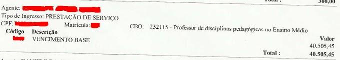 Prefeitura de Senador Sá paga 10.202.41 para uma única zeladora e 40.505.45 para uma única professora segundo documento do TCM, uma corrupção clara e barata.