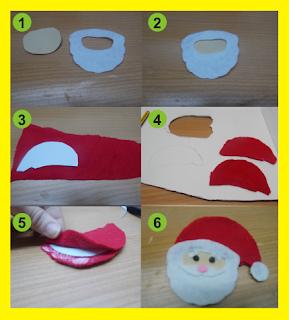 Como hacer la cara del Papá Noel
