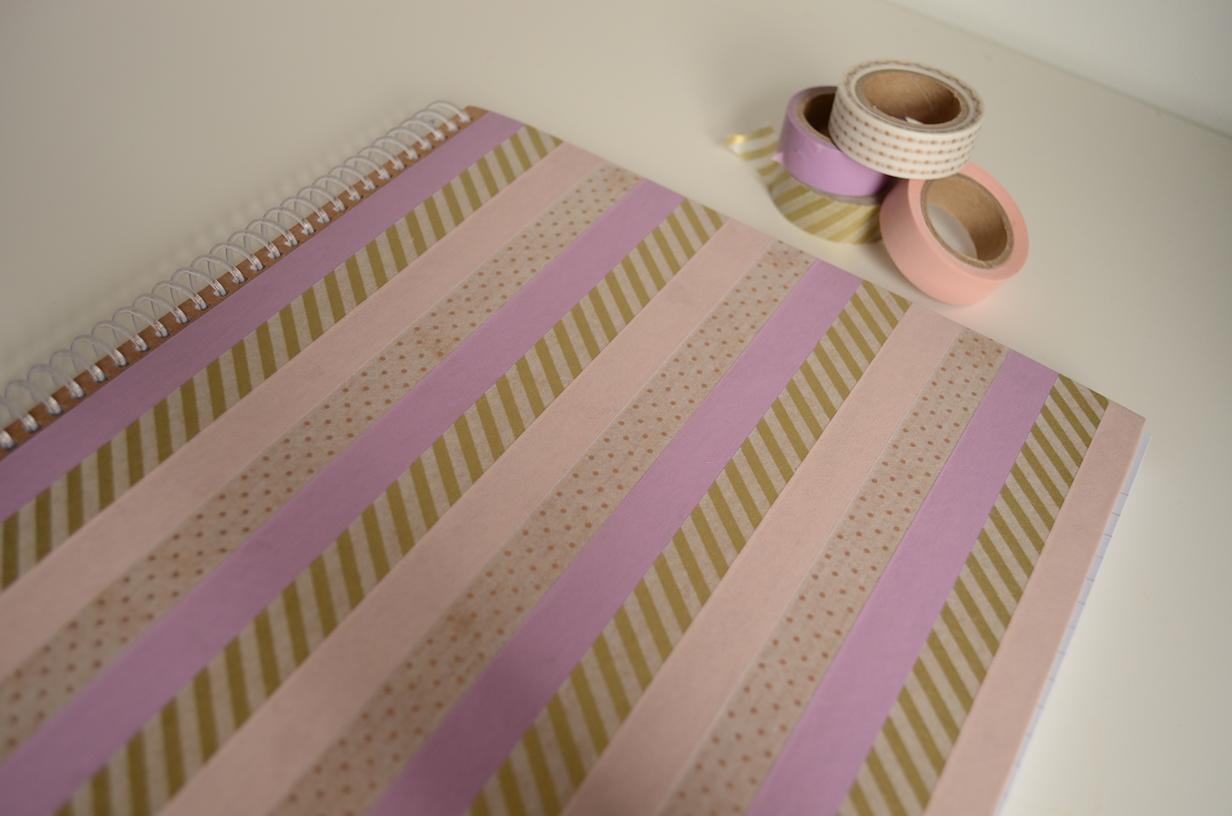Diy Ribbon Book Cover ~ Thegluegungirl diy washi tape covered notebooks
