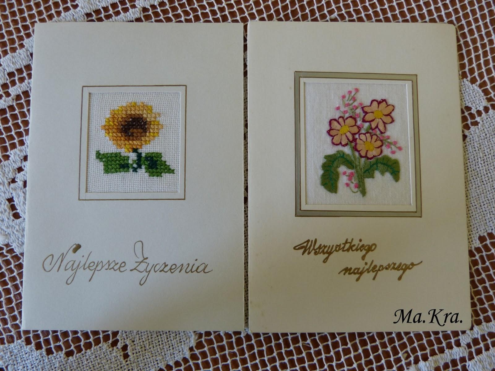 kartka haftowana