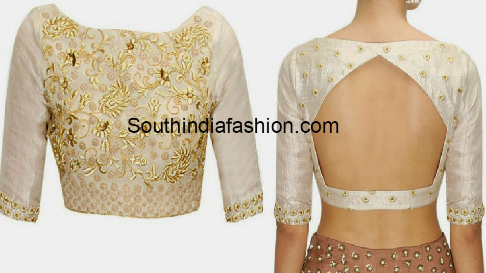 embroidered boat neck blouse