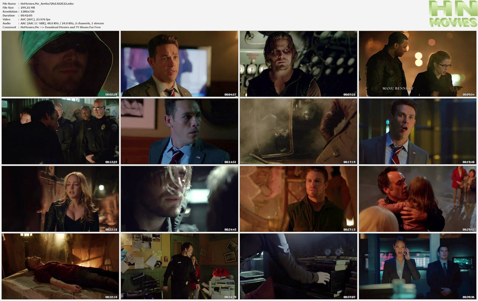 Arrow S02E22 720p HDTV 300MB