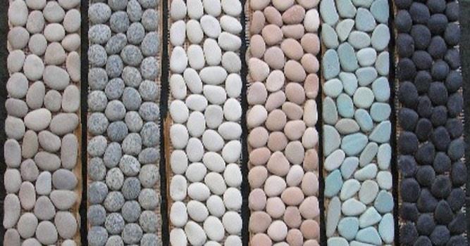 cara memasang lantai hiasan memakai batu koral sikat