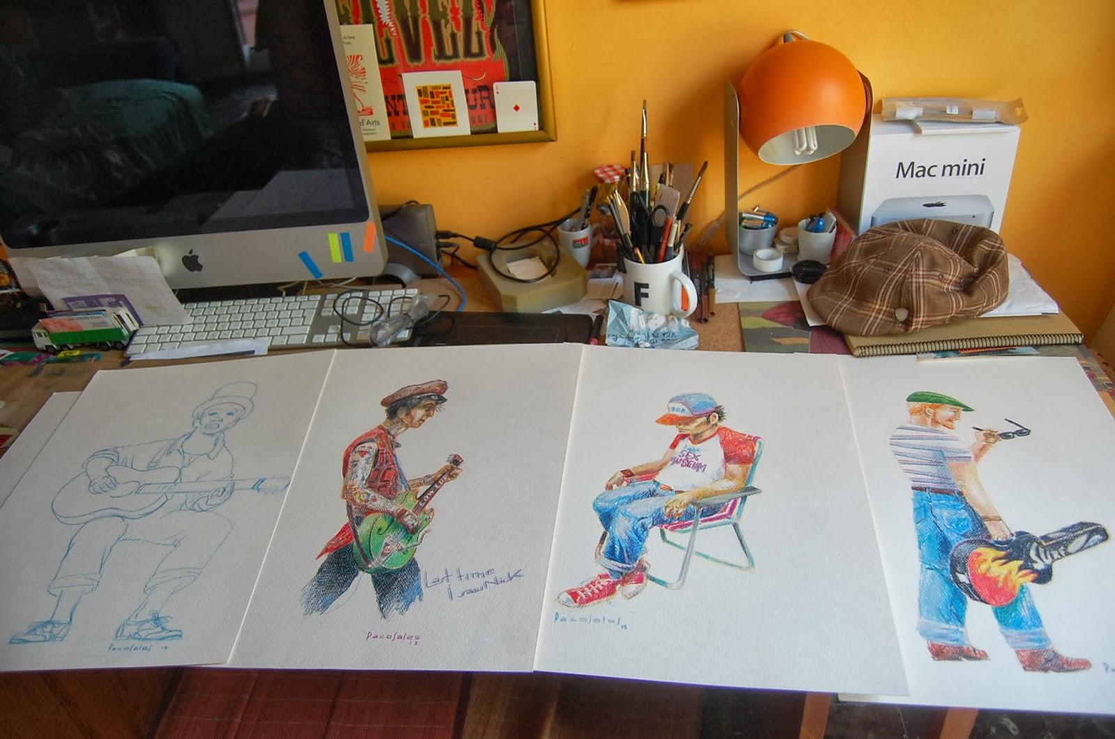 Pacosales ilustraci n dise o gr fico dibujos sobre mi mesa for Mesa diseno grafico