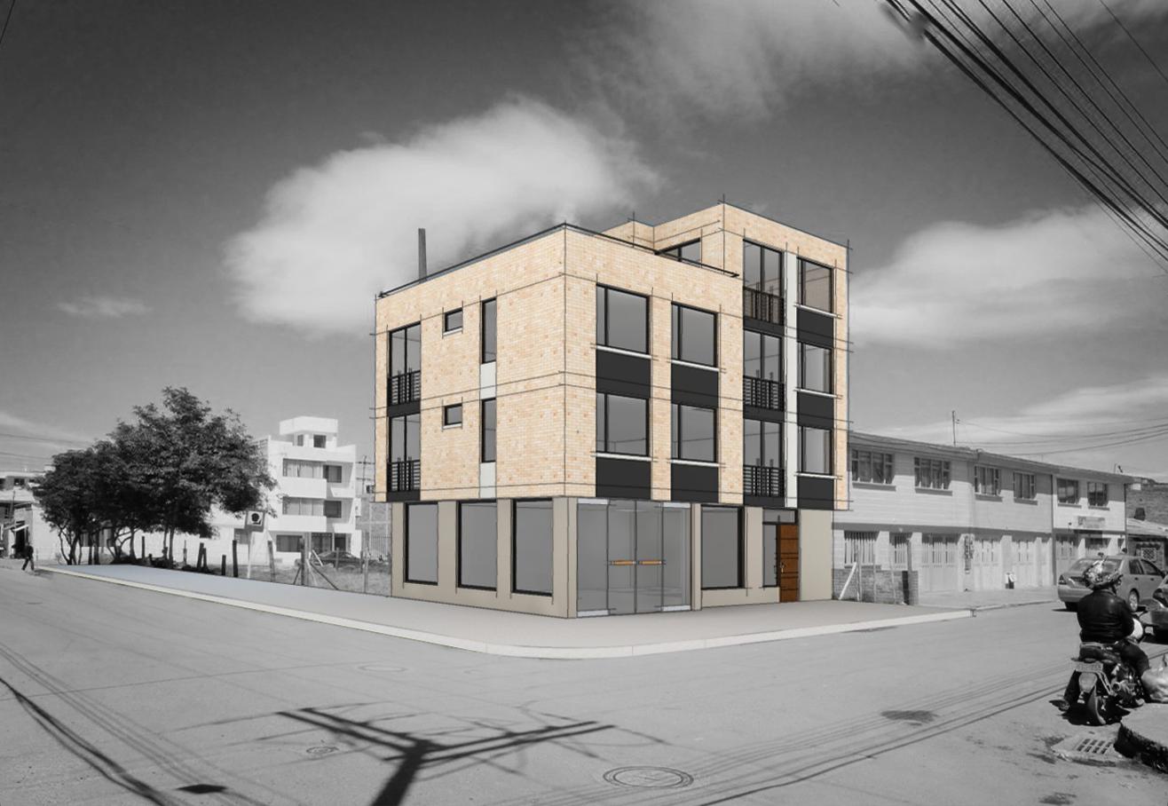 Cesar gonzalez 3d dise o edificio gomez comercio y for Diseno de edificios