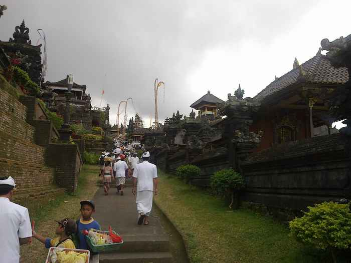 Besakih Temple is always crowded by the people during the celebration