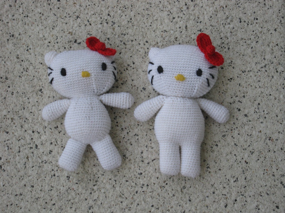 Tutorial Amigurumi Kitty : Marinasognaecrea: Tutorial amigurumi Hello Kitty