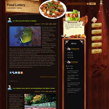 Food Lottery blogger template. free blogspot template download. download travel blogger template