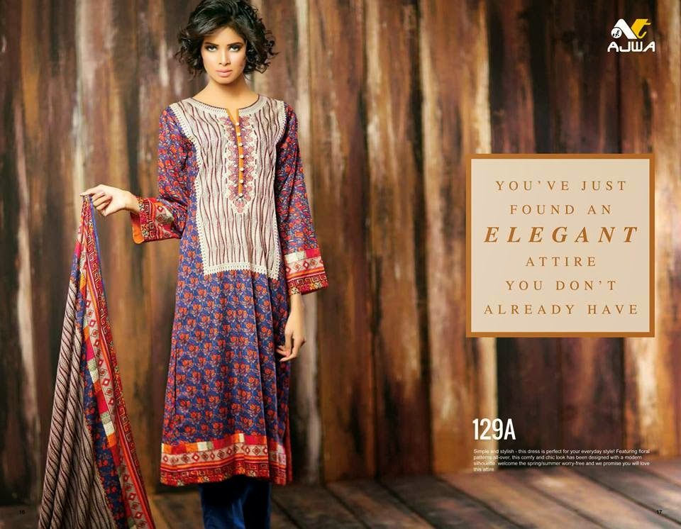 Ajwa lawn collection 2015