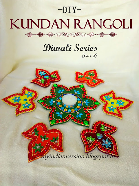 DIY Kundan Rangoli - Diwali Series (part 3)