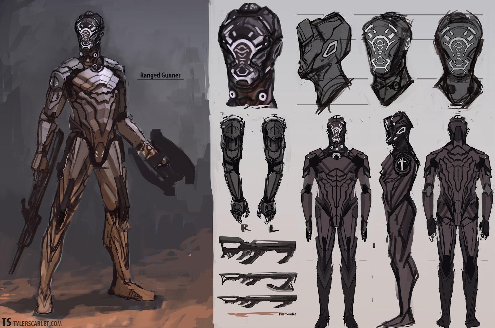 Futuristic Knight Concept Art