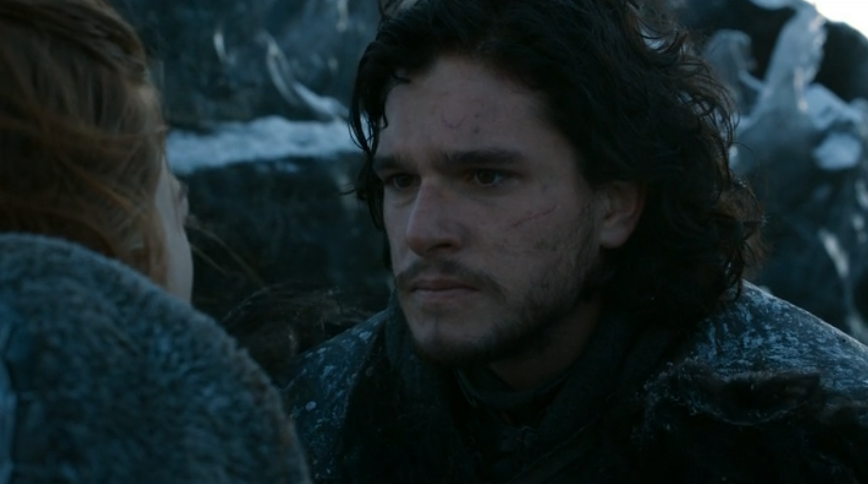 kit harington and rose leslie as jon snow and ygritte on game of