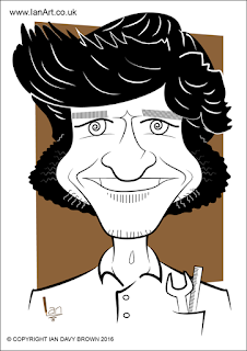 Guy Martin caricature by Ian Davy Brown