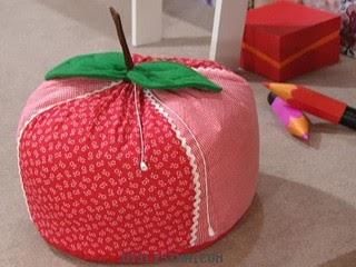 Como hacer un puff infantil portal de manualidades - Como hacer un puff pera ...