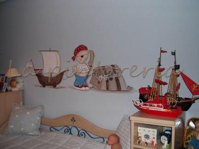 Des murs enchant s peinture murale chambre enfant - Chambre bebe peinture murale ...