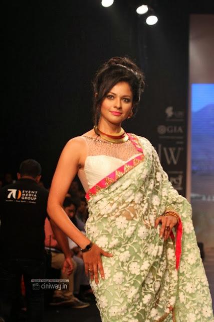 Pooja Kumar Ramp Walk at IIJW 2013